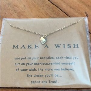 """""""Make a wish"""" heart necklace"""